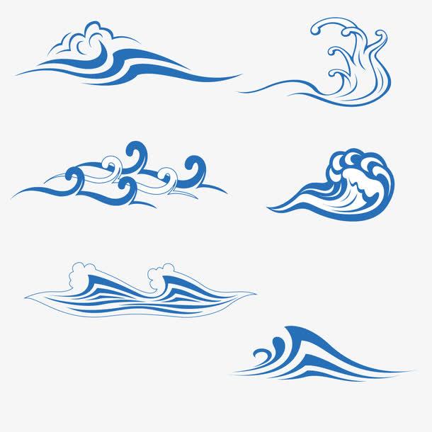 传统水波纹矢量素材