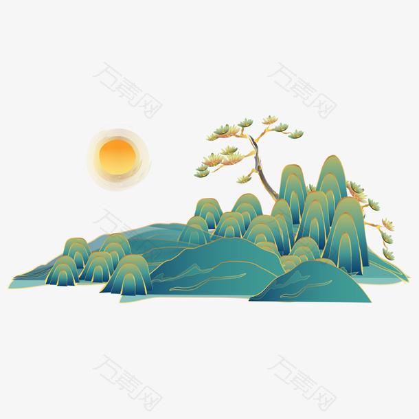 国潮中国风手绘素材