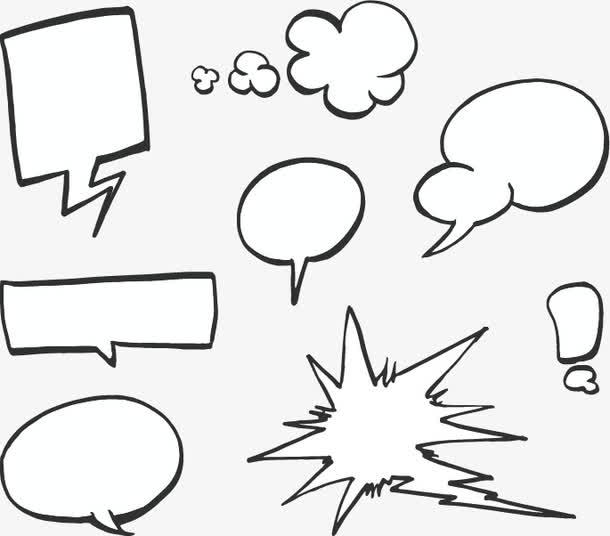 矢量手绘爆炸对话框