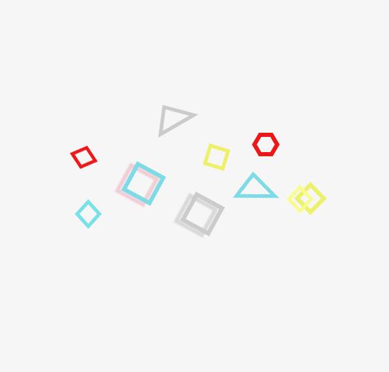 彩色不规则几何悬浮