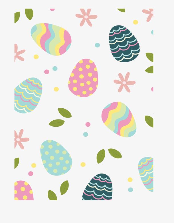 可爱彩色复活节彩蛋