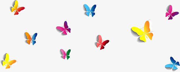 抽象炫彩蝴蝶