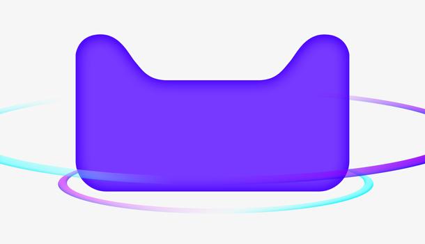 创意蓝色天猫促销猫头