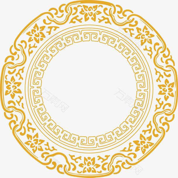 中秋圆形花纹
