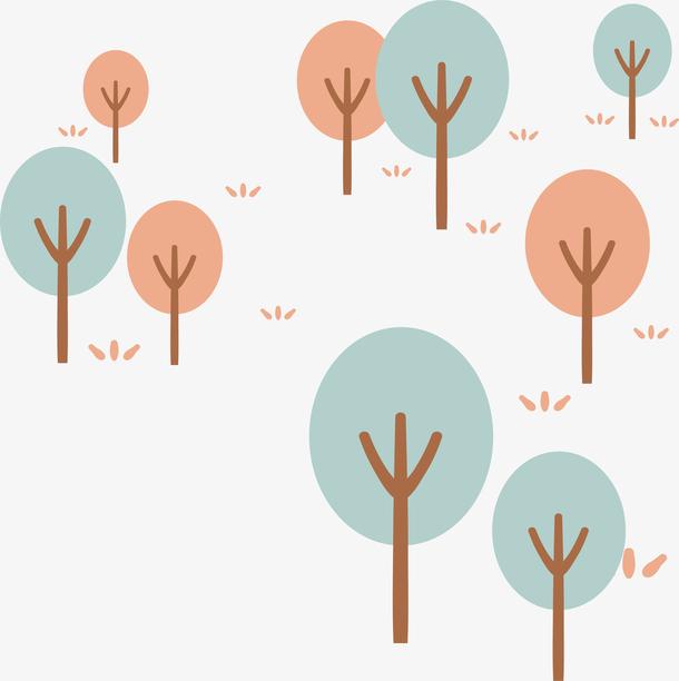 手绘森林插画设计