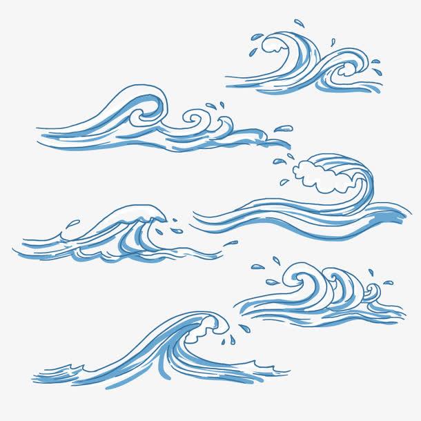 矢量水波荡漾