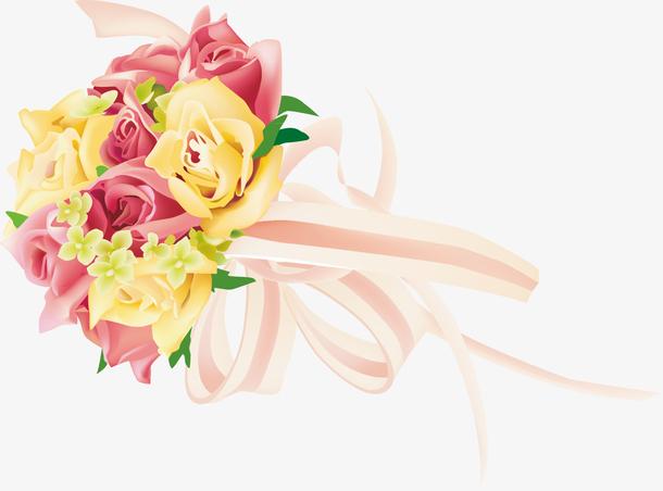 鲜花装饰设计矢量