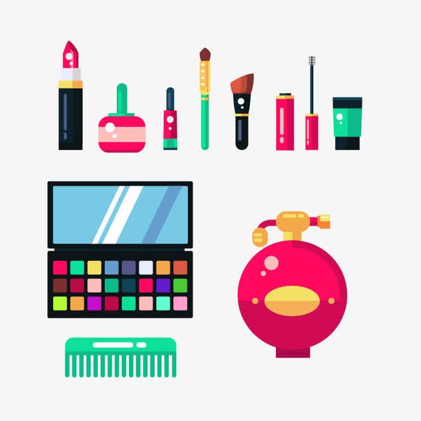女性化妆工具矢量素材