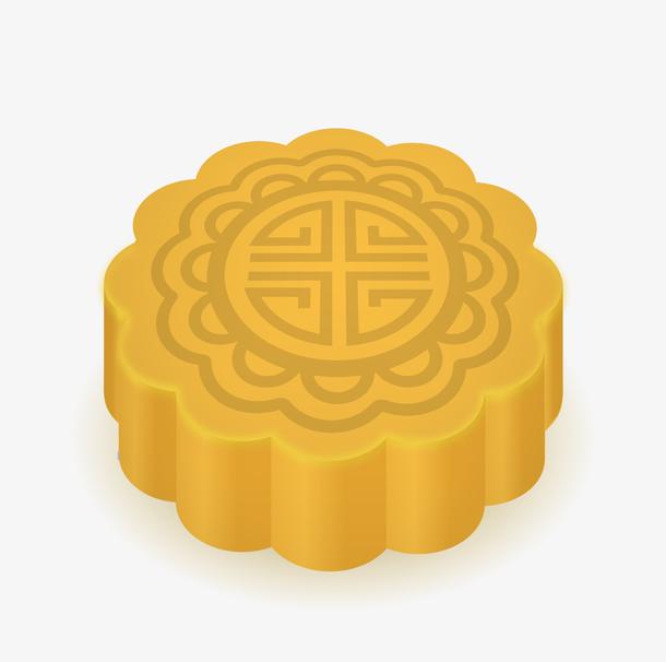 矢量黄色月饼下载