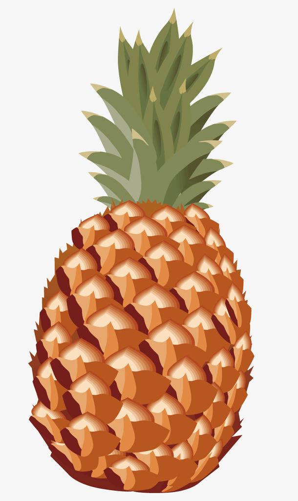 一个卡通的水果菠萝