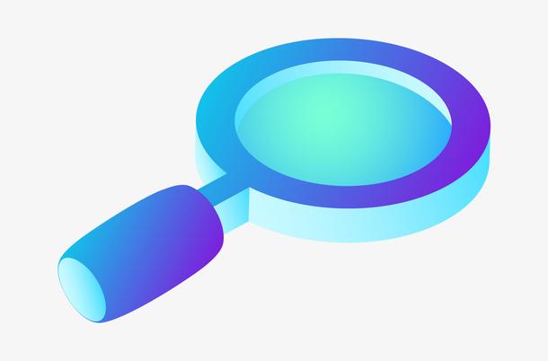 2.5D立体放大镜插画图标
