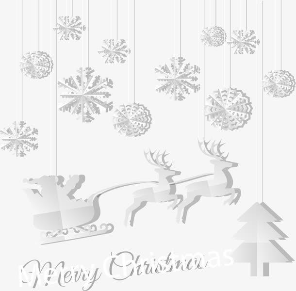 圣诞老人与雪花背景