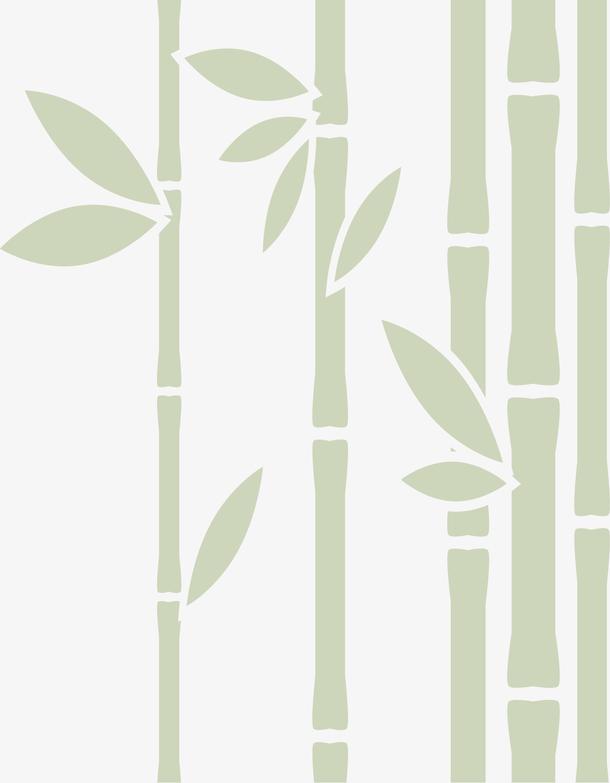 矢量图林间的竹子