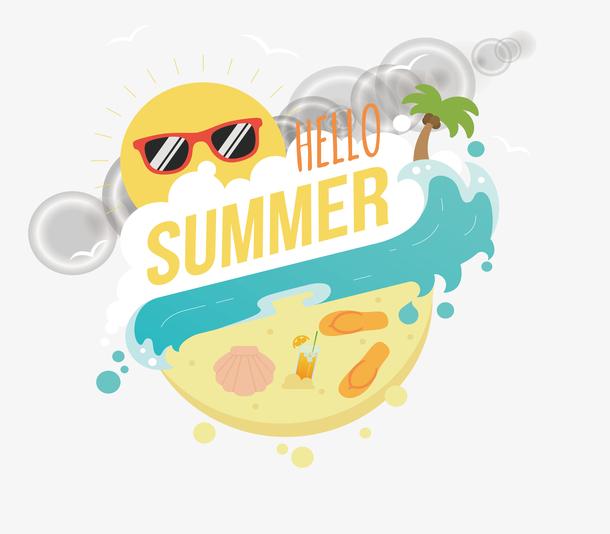 精美夏季背景设计