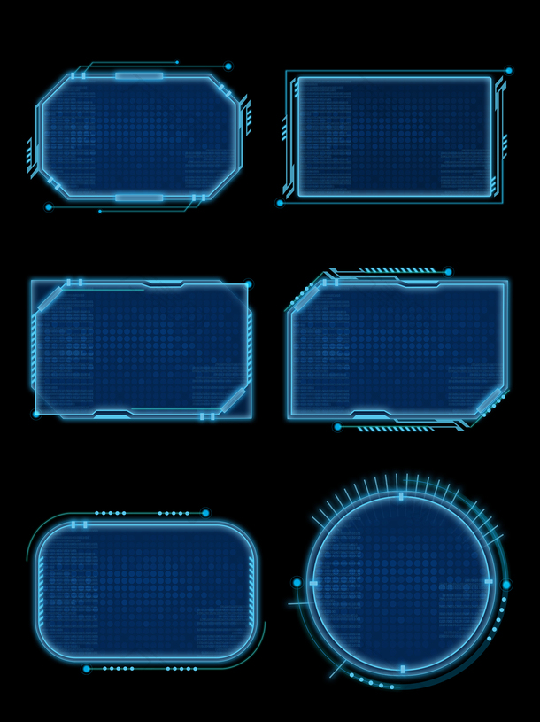 科技感边框元素psd
