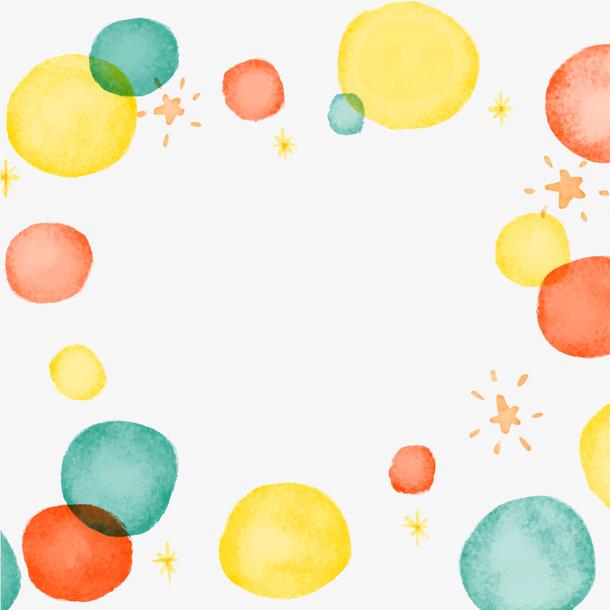 水彩泡泡点缀装饰