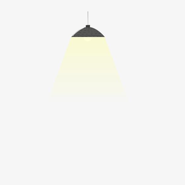 黑色灯罩和黄色灯光效果