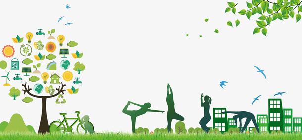 绿色清新环保健康海报背景