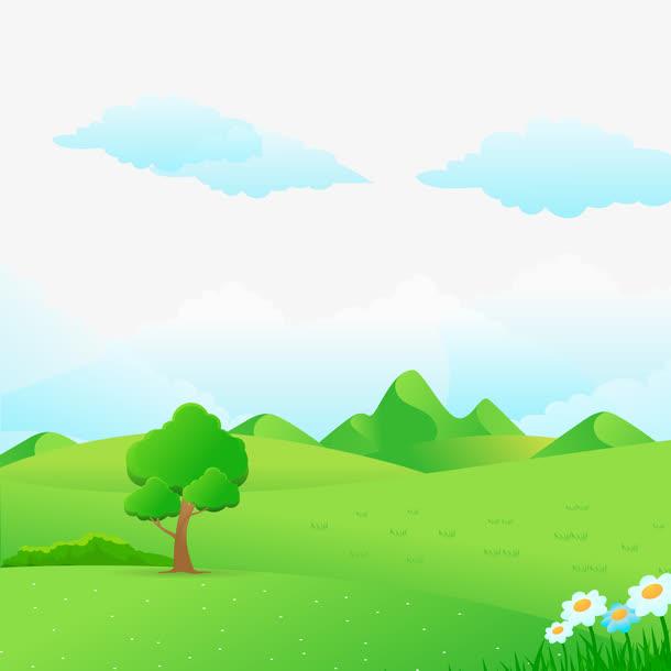 矢量卡通自然景观