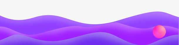 创意紫色渐变波浪剪纸风banner