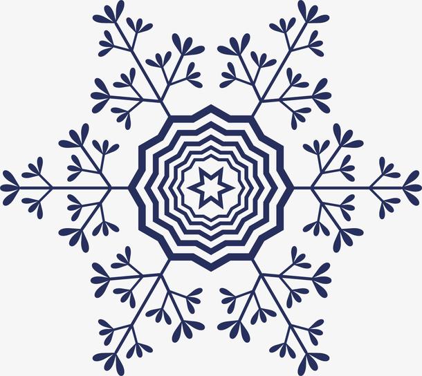 冬季蓝色雪花