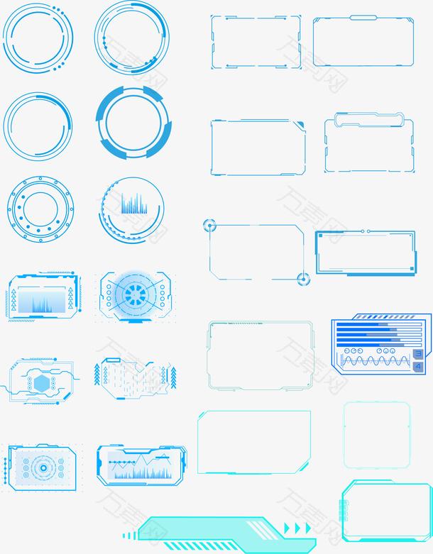 科技感边框元素