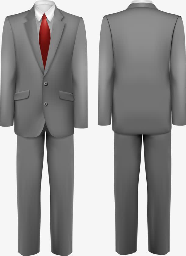 男式西服套装矢量素材