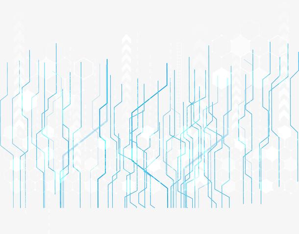 手绘5G光效线条插画装饰