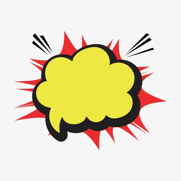 黄色圆弧爆炸对话框