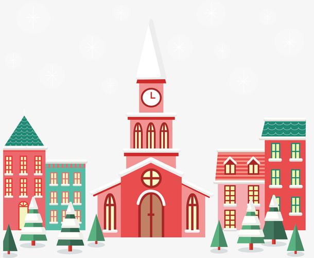 粉色圣诞教堂