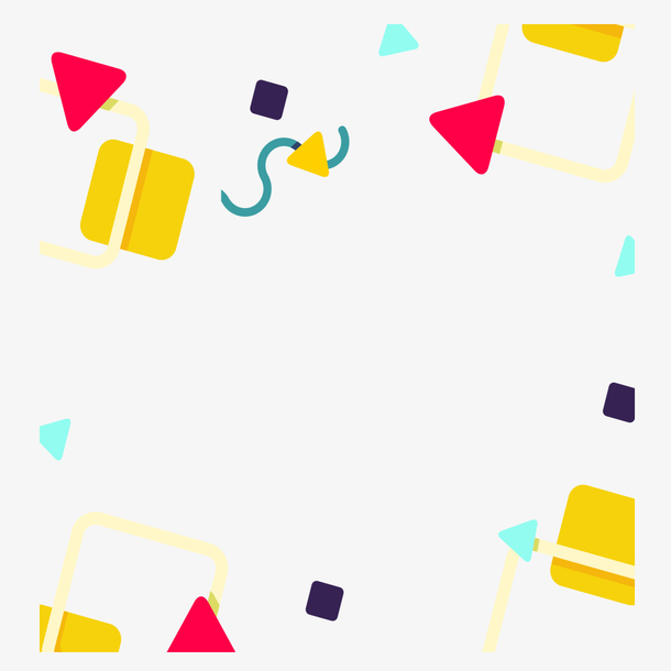 抽象几何波普风格创意矢量素材