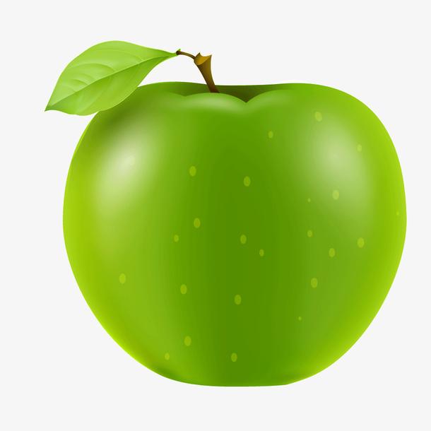 绿色质感水果苹果