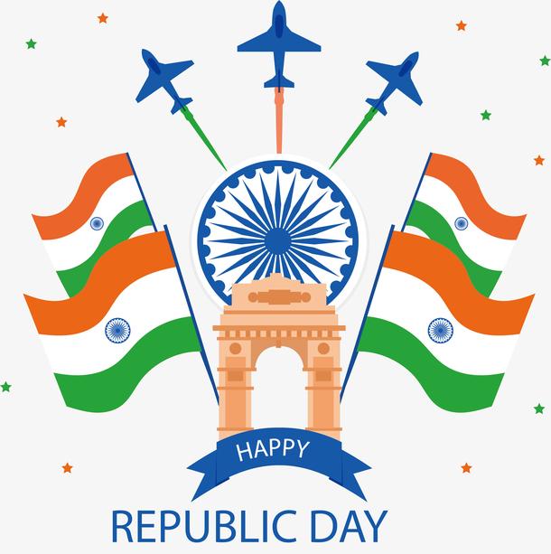 国旗飞行队印度国庆海报
