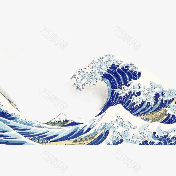 国潮浪花海浪