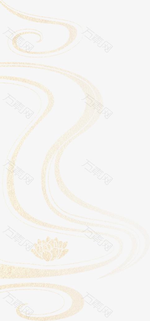 金色 云纹理 古风 国潮