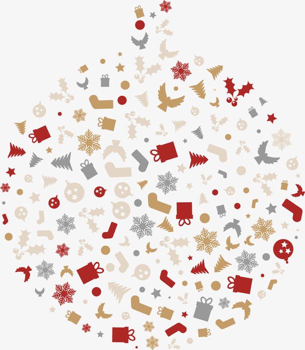 矢量圣诞元素装饰图案