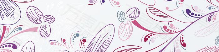 手绘花纹banner背景