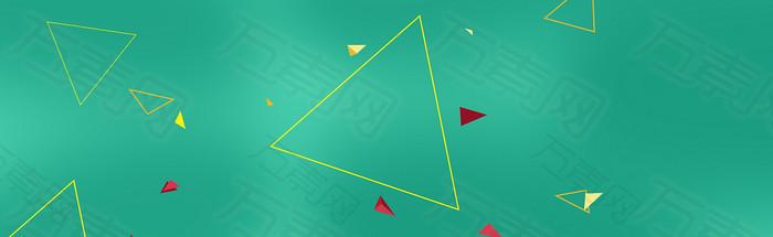 扁平三角形banner背景