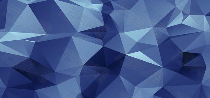 蓝色几何形状背景