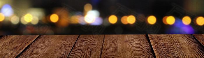 夜色灯光背景