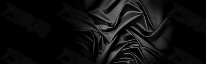 黑色丝绸高大上背景