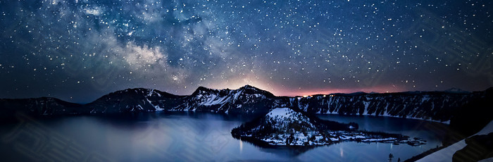 星际夜景背景banner设计