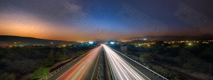 高速公司夜景