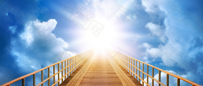 云端太阳唯美背景banner