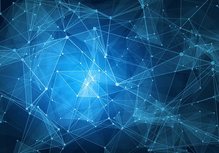 科技线条与蓝色背景高清