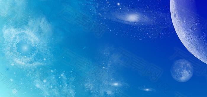 蓝色梦幻星空背景