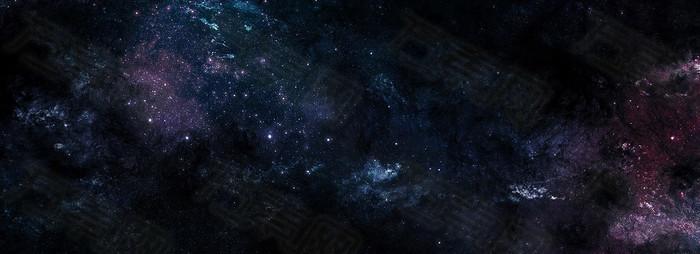 黑色宇宙星空背景banner