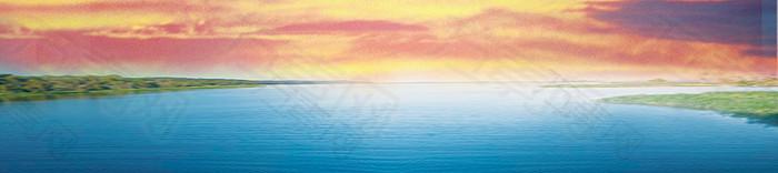 湖边banner背景图