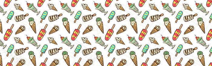 彩绘冰淇淋背景
