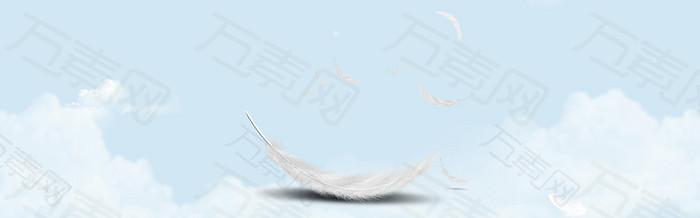 天空羽毛背景